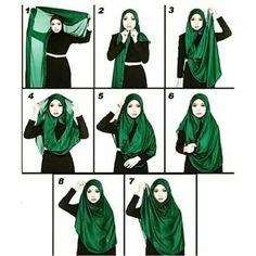 Wide shawl tutorials