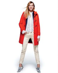 OCT '13 Style Guide: J.Crew Convertible toggle coat.