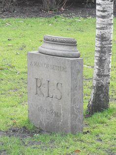 Robert Louis Stevenson Memorial , 1987-9 by Ian Hamilton Finlay - West Princes Street Gardens, Edinburgh.