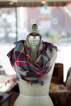 Oversized Plaid Blanket Scarf....I love this plaid one and the blue and green one!!!! They would make great Xmas gifts!