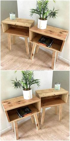 Most Creative Simple DIY Wooden Pallet Furniture Project Ideas wooden pallet end tables The post Most Creative Simple DIY Wooden Pallet Furniture Project Ideas appeared first on Pallet Ideas. Wooden Pallet Projects, Wooden Pallet Furniture, Wood Pallets, Furniture Ideas, Furniture Design, Pallet Bedroom Furniture, Furniture Stores, Barbie Furniture, Pallet Wood