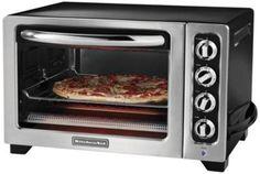 countertop toaster kitchenaid kco222ob oven blast 12 toaster oven ...