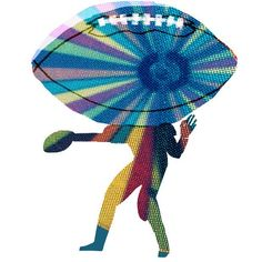 #football #nfl #eye #sports #illustration #illustrator #tatsurokiuchi #happy #athlete #life #quaterback #qb #america #usa
