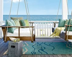 porch swings overlooking sea