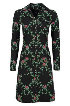 Dress Snappie Flower Branch Black