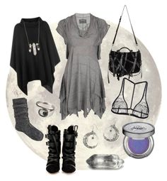 """Dark Mori Witch - Moonlight"" by bloodmoonsuccubus ❤ liked on Polyvore featuring AllSaints, River Island, Suzannah Wainhouse, I.D. SARRIERI, ZoÃ« Chicco, Urban Decay, Isabel Marant and Alexander Wang"