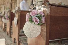 decoração de bancos de igreja para casamento - Pesquisa Google