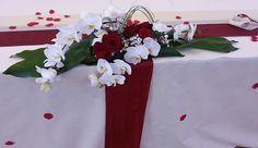 Composition florale et décorations de table