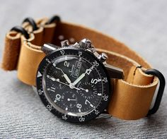 Sinn Chronograph on leather nato