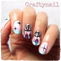 dream catcher nails gradientl