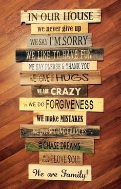 NEW Family Rules...In Our House...House Rules Sign by likeIsaid