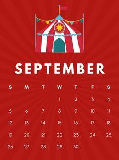 Cute September 2021 Calendar Template Cute Calendar, Kids Calendar, Calendar Pages, Calendar Design, 2021 Calendar, Free Printable Calendar Templates, Blank Calendar Template, Monthly Planner Printable, Monthly Calendars