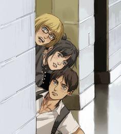 Armin, Eren Aot, Eren X Mikasa, Attack On Titan Funny, Attack On Titan Fanart, Fanarts Anime, Manga Anime, Vintage Anime, Tamako Love Story