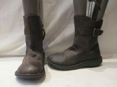 FAT-FACE-ERIN-SHORT-BROWN-LEATHER-ZIP-UP-BOOTS-UK-4-782-FESTIVAL