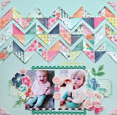 #papercraft #scrapbook #layout   The One with BasicGrey FRESH CUT Layouts