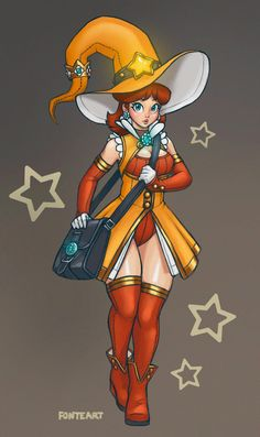 Witch Daisy by Fonteart Super Mario Bros, Super Mario Brothers, Super Smash Bros, Luigi And Daisy, Mario And Luigi, Mario Kart, Super Mario Princess, Nintendo Princess, Nintendo Characters