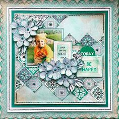 Layout for the Merly Impressions January 2017 crop kit, using the gorgeous Ubud Dreams Kaisercraft collection. Scrapbook Layout Sketches, Scrapbook Designs, Scrapbooking Layouts, Baby Scrapbook, Scrapbook Albums, Scrapbook Cards, Hobbies And Crafts, Projects To Try, Card Making
