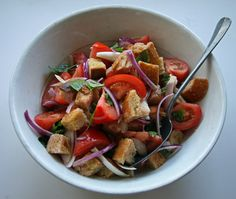 Just wanted to share this delicious recipe from Lidia Bastianich with you - Buon Gusto! Bread and Tomato Salad