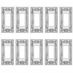 10 Victorian Switch Plate GFI Rocker Chrome Brass