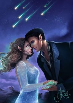 Artwork inspired by Sarah J Maas. A Court Of Wings And Ruin, A Court Of Mist And Fury, Romance, Roses Book, Feyre And Rhysand, Sarah J Maas Books, Throne Of Glass Series, Crescent City, Look At The Stars