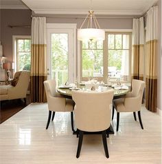 Contemporary (Modern, Retro) Dining Room by Marie Hebson