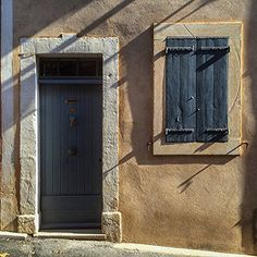 """Door- Rousilion. This is an 10x10 unframed original signed and numbered print from my photography series """"Shutters and Doors of Provence"""" If you've spent any time in southern France, you've probably noticed the window coverings of what we call shutters. They aren't just decorative, they're called volets and in most cases very functional. Each morning, the volets are opened and each evening they are shut. It's normal and lets the world know you're ready to face the day. I find these…"""
