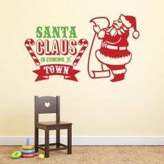 Santa Claus is coming to Town Wall Sticker Adesivo da Muro