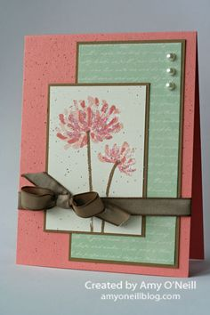 hand crafted card ... Glittered Too Kind ... strong lines ... great color ... Stampin' Up!