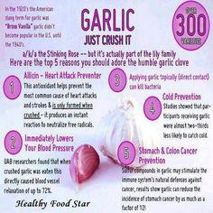 ~Benefits of garlic