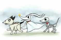 Burton dogs drawn by me... scraps zero and sparky!