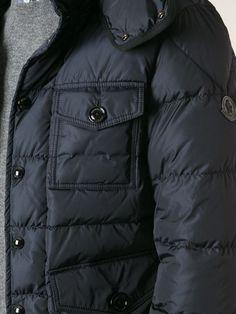 Moncler 'jason' Padded Jacket #moncler #monclerjackets #menjackets #menswear #paddedjackets #navyjackets #jofre