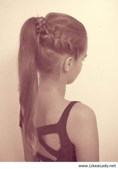 High Ponytail With French Braids. I'm so doing this for my meet hair. All I have to do is get my hair cut so my hair won't be in my face.