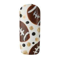 "Nail Art How To: ""Touchdown!"" Sports Nail Art, Football Nail Art, Nail Polish Art, Nail Polish Designs, Nail Art Designs, All Things Beauty, Girly Things, Minion Nails, The Art Of Nails"