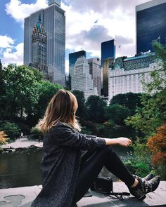 People watching in Central Park  by tuulavintage