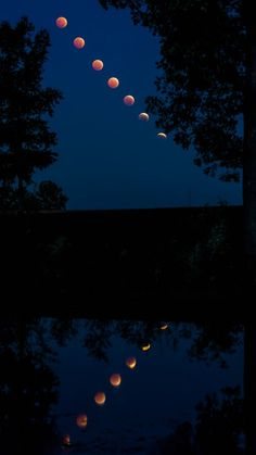 Time lapse of October 8, 2014 lunar eclipse as reflected in a pond in central Illinois, by Greg Lepper.