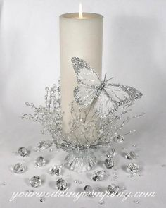 New Wedding Reception Flowers Centerpieces Pillar Candles 51 Ideas Wedding Themes, Wedding Decorations, Christmas Decorations, Wedding Ideas, Trendy Wedding, Budget Wedding, Wedding Centerpieces Cheap, Inexpensive Centerpieces, Pew Decorations