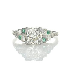 Leigh Jay Nacht Inc. - Art Deco Engagement Ring - VR0627-01