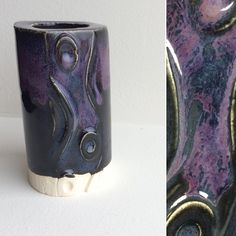 On this election day we're casting a vote for this dark and beautiful layering combination - Potter's Choice is our choice! Here we have three coats of PC-57 Smokey Merlot over PC-12 Blue Midnight on 11-M A-Mix White Stoneware Clay and fired to Cone 6. Today's tile contrasts warm purples against a blue-black base in a way that makes for a subtle but deliciously dark combo we love. Have your own lovely AMACO test tiles? Share them with us on Instagram or Facebook using #howiamaco #amaco…