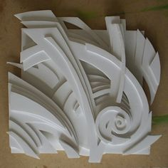 foam board relief sculpture high. i thought this cool because I really enjoy art with geometric designs like this
