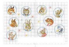 Le monde de Beatrix Potter  punto croce cross stitch