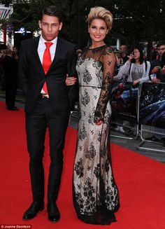 Hot young couple: TOWIE stars Sam Faiers and Joey Essex were also on the guest list