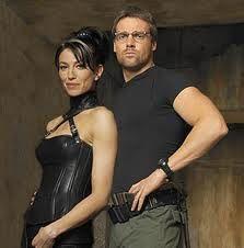 Michael Shanks and Claudia Black (Stargate SG-1)
