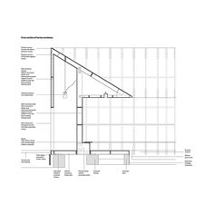 Peter Zumthor - Serpentine Pavilion section Peter Zumthor, Architecture Drawings, Architecture Details, Brick Arch, Building Drawing, Architectural Section, Architectural Presentation, Construction Drawings, Roof Detail