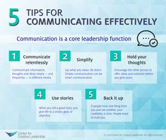 Infographic: 5 Tips for Communicating Effectively