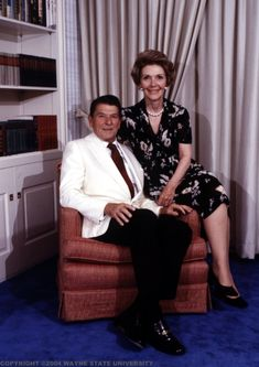 Ronald & Nancy Reagan. Ronald Reagan: President Reagan 40th #President of the United States