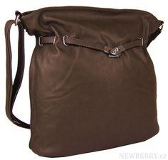 Oříškově hnědá crossbody kabelka MAHEL 452-MH : NewBerry - kabelky, tašky, batohy