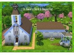 Mod The Sims - Saint Simion's Church & Banquet Hall #community #lot #ts4cc
