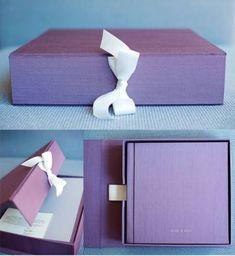 Álbum de casamento artesanal para fotos