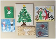 Christmas Handprint Canvases!