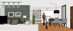 Sala Integrada Casual - Projeto Decora